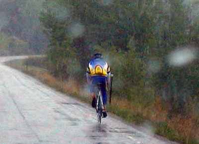 Bundling up and treating your gear with care is key for riding in the rain. Photo: bikehugger.com