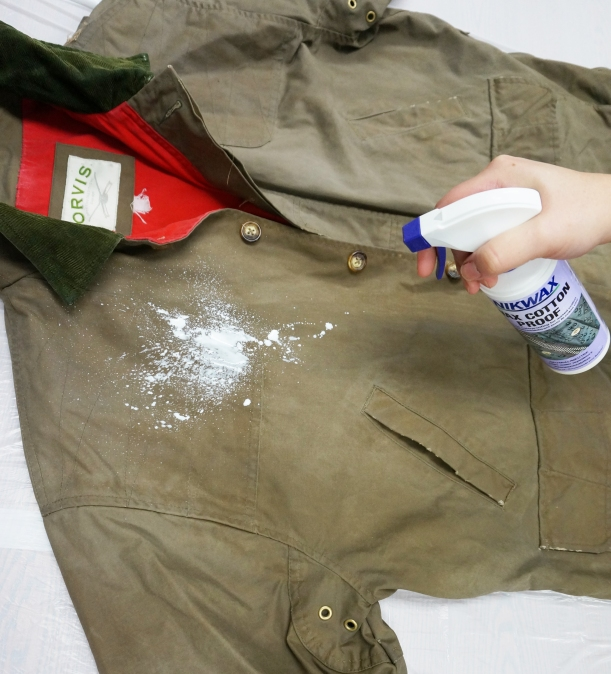 Waterproofing a Wax Cotton Jacket