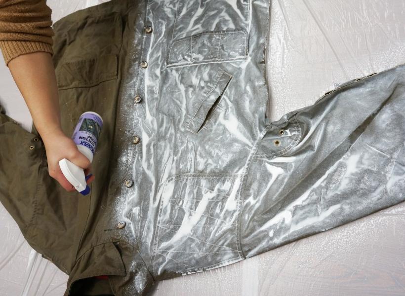 Waterproofing a wax cotton jacket