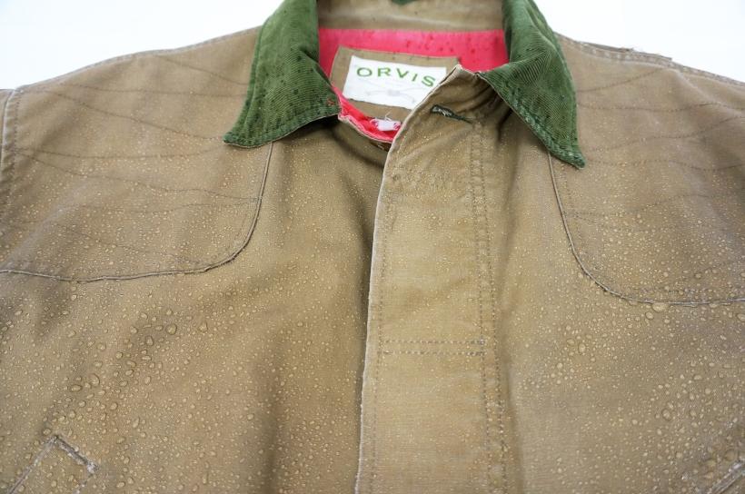 Waterproofed wax cotton jacket